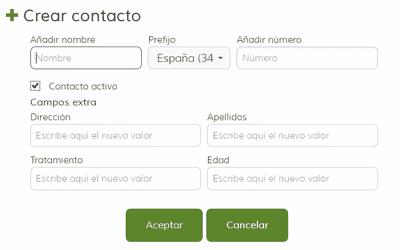 Crear Contacto con Campos Extra