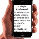 SMS en Colegios profesionales