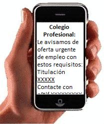 SMS Colegios profesionales