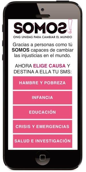 Campaña Somos 2014 - web móvil
