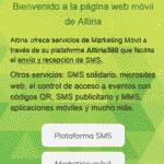Creación de landing web móvil y envío por SMS: Tutorial