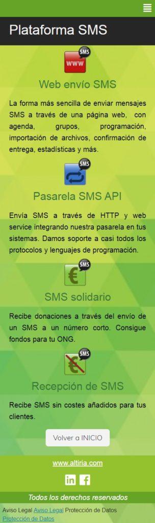 Enviar SMS con enlace
