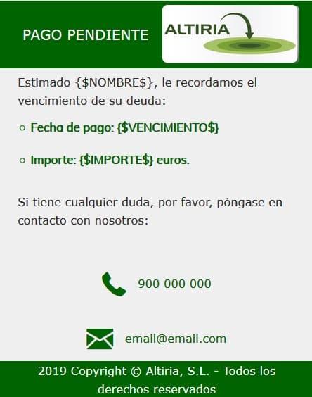 SMS Web móvil personalizada 1