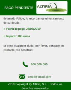 SMS Web móvil personalizada 2