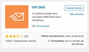 Wordpress sms. Instalacion WP-SMS