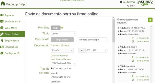 subir documento para la firma digital